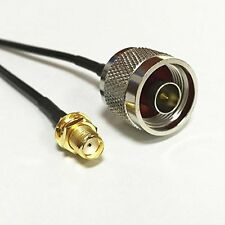 N male plug to SMA female bulkhead RF Pigtail Cable Coaxial Jumper RG174 20cm 8