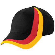 Casquette SPORT Beechfield Euro football nation ALLEMAGNE noir jaune rouge