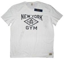 RARE NEW RALPH LAUREN POLO RL NY NEW YORK GYM WHITE BLACK T SHIRT XL