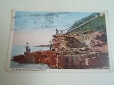 Old Postcard The Forty Steps Newport Rhode Island Franked+Stamped 1918  §A1088