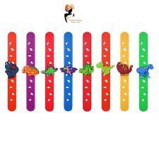 DINOSAUR SNAP BAND Bracelet Boys Kids Birthday Party Bag Fillers Christmas Gift