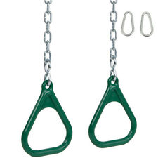 Swing Set Stuff Trapeze Rings Green With Chain (Pair) play park accessory 0031