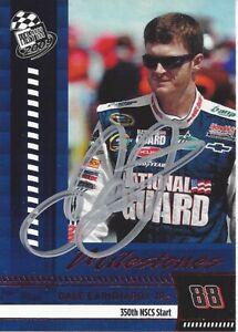 AUTOGRAPHED Dale Earnhardt Jr 2009 Press Pass MILESTONES Signed NASCAR Card COA