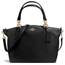 COACH F36675 Small Kelsey Black Leather Satchel