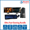ULTRA FAST Gaming PC Bundle Intel Core i7 8GB 1TB GT710 DUAL SCREEN Win10 Pro