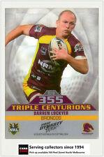 2012 Select NRL Dynasty Triple Centurions Card TC10 Darren Lockyer (Broncos)