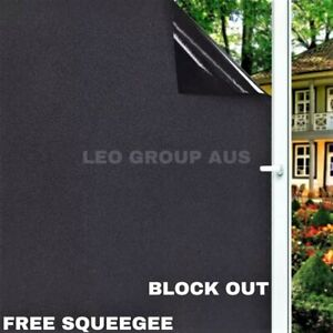 Blackout Static Cling Window Glass Film Privacy Protection to Block Sun UV Decor