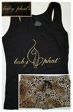 Baby Phat Plus Size Pajama Set 1X Womens Pajamas Sleep Shirt Lounge Bottoms NWT