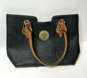 Mulberry handbag Black Brown Leather Shoulder Bag