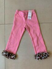 Gymboree Girls 3T Pink Pants Faux Leopard Fleece Cotton Blend NWT Fall Winter