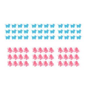 """72x Cute Baby Stroller Carriage 2 colors 3"""" Baby Gifts Party Table Decor"""