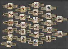 Série complète de 24   Bagues de Cigare Ritmeester Cavalerie Allemande  Cheval