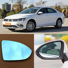 Rearview Mirror Blue Glasses LED Turn Signal with Heating For Volkswagen Lamando
