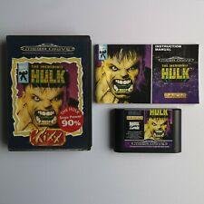 Sega Mega Drive The Incredible Hulk Kixx Game  - Pal - Complete