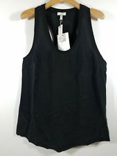 NWT Women's joie, Alicia Racerback Silk Pocket Tank, Size L. $138 - Caviar
