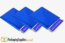 "100 - BLUE - Metallic Glamour Bubble Mailers Padded Envelope Bag 9"" x 11.5"""