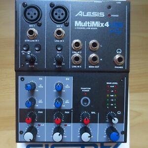 Alesis Multimix 6 Mixer Audio Interface mit Netztteil, Kabel, OVP