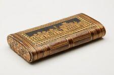 ANTIQUE NAPOLEONIC PRISONER OF WAR STRAW-WORK CASE C.1800