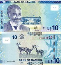 Namibia 2015,  $10 Dollars, Banknote UNC