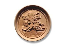 "Knight Profile 19th c. Replica Door Panel Recessed Round Medallion  7-3/8"" D."