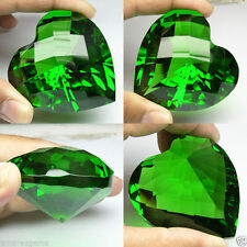 580+ cts Huge Heart (56 mm) Lab Green Emerald Crystal AAA B37