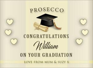 Congratulations On Your Graduation PERSONALISED PROSECCO LABEL