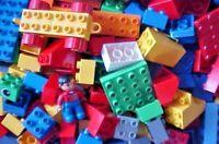 LEGO DUPLO BRICKS, BLOCKS, Specialty, Car Base, Person - Lot of 150 Random Pcs