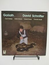 """WHITE LABEL PROMO- """"GOLIATH"""" DAVID SCHNITTER LP 1978 MUSE RECORDS MR 5153 USA"""