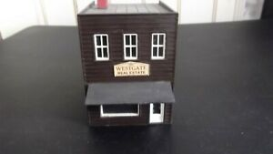 Built ho scale two story building Westgate Real Estate in very good condition