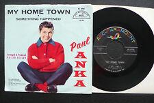"7"" Paul Anka - My Home Town - USA RCA w/ Pic"