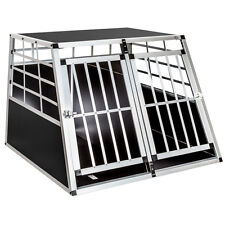 Cage box caisse de transport chien mobile aluminium XXL double+ séparation !!!
