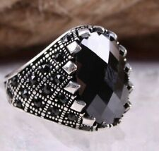 Turkish Jewelry 925 Sterling Silver black onyx  Mens Mans ring ALL SİZE us