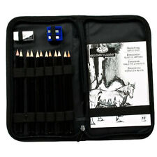 Graphite Pencils Drawing Art Set Sketch Painting Artist Kit Small Case 16 Pieces