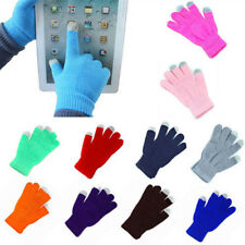 ADULTS Touch screen Magic Knitted Gloves Stretch Winter Mens Ladies Womens Phone