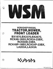 Kubota BX1870, BX2370, BX2670 Tractor, Loader, Rotary Mower Workshop Manual