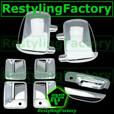 99-07 Ford Super Duty Chrome Mirror W/ Light+4 Door Handle w/KH+Tailgate Cover