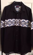 Vintage Men'S Roper Aztec Southwestern Rockabilly Western Shirt, Size L Chest 48