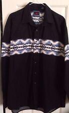 Vintage Men'S Roper Aztec Southwestern Rockabilly Western Shirt, Size L Chest 48