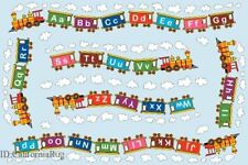 3x5 ABC Area RUG  Kids Educational Train  Alphabet  Design Sky  Play Time New