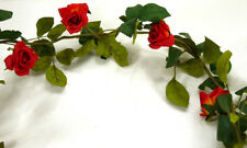Rosengirlande hellrot L180cm Hochzeit Romantik Deko Kunstblumen Rosen