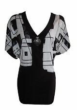Waist Synthetic Geometric Tops & Shirts for Women