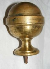 ANTIQUE FRENCH GILT HEAVY BRASS ARCHITECTURAL FINIAL ROUND GLOBE SHAPE