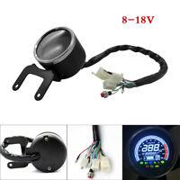 Universal 12V Motorcycle LCD Digital Odometer Speedometer Tachometer Gauge Handy