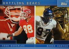Tc12 Tony Gonzalez Kansas City Chef/ANDRE carter TOPPS 2001