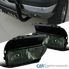 03-06 Chevy Silverado Avalanche Smoke Lens Fog Lights Driving Bumper Lamps+Bulb