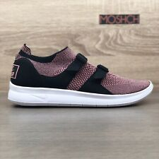 Nike Air Sock Racer Flyknit UK 8.5 Melon Red Gym Trainers Max