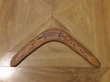 Australian decorated wooden boomerang 11.5""