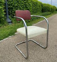 Vintage Art Deco Machine Age Chrome Chair Royal Chrome Kem Era Industrial