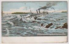 Canada postcard - Corsican in Lachine Rapids, St Lawrence River, Ontario - P/U