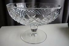 """Waterford Crystal Alana Patterned Compote / Sweet Dish 4½"""" tall 6¼"""" Diameter"""